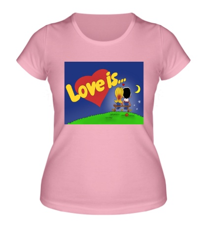 Женская футболка «Love is...»