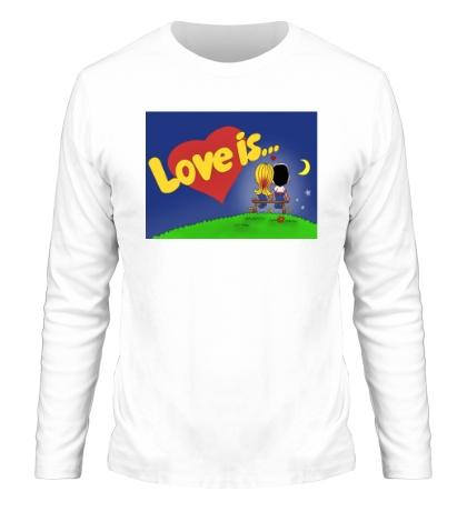 Мужской лонгслив Love is...