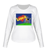 Женский лонгслив Love is...