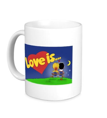 Керамическая кружка «Love is...»
