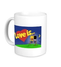 Керамическая кружка Love is...