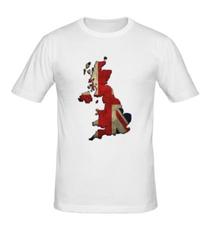 Мужская футболка «Карта Великобритании»