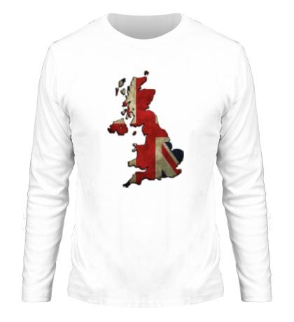 Мужской лонгслив Карта Великобритании