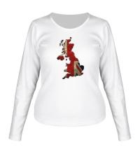 Женский лонгслив Карта Великобритании