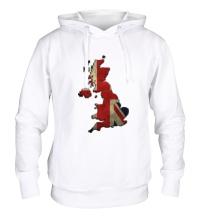 Толстовка с капюшоном Карта Великобритании