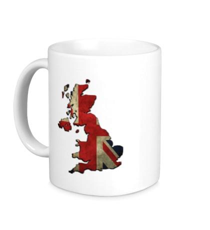 Керамическая кружка «Карта Великобритании»