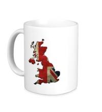 Керамическая кружка Карта Великобритании