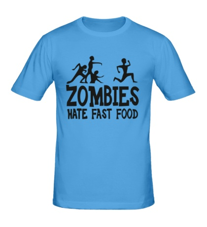 Мужская футболка Zombies hate fast food