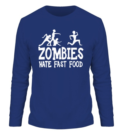 Мужской лонгслив Zombies hate fast food