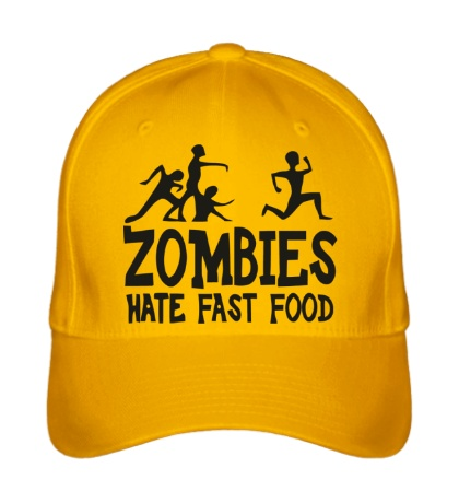Бейсболка Zombies hate fast food