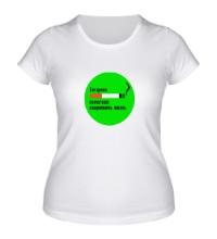 Женская футболка Сигарета помогает скоротать жизнь