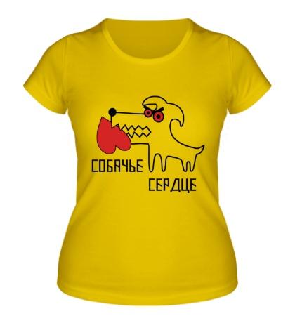 Женская футболка «Собачье сердце»