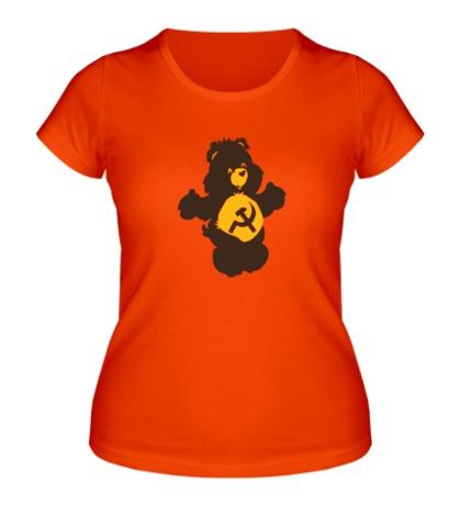 Женская футболка Советский мишка