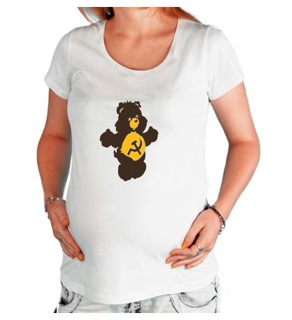 Футболка для беременной Советский мишка