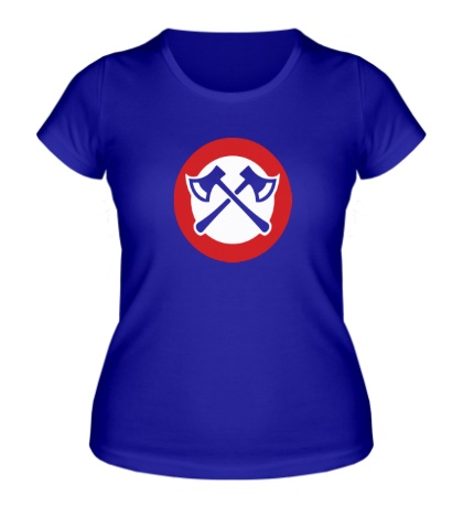 Женская футболка Топорики