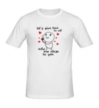 Мужская футболка Давайте дарить любовь