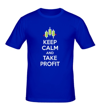 Мужская футболка Keep calm and take profit