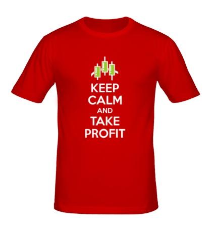 Мужская футболка «Keep calm and take profit»