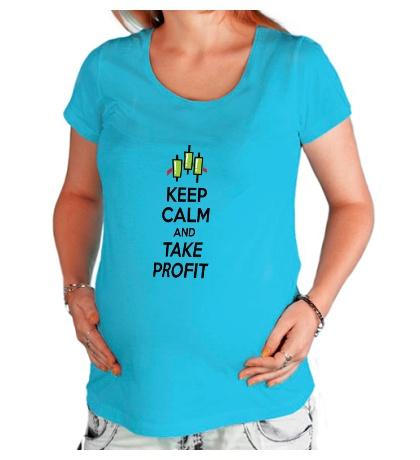 Футболка для беременной «Keep calm and take profit»