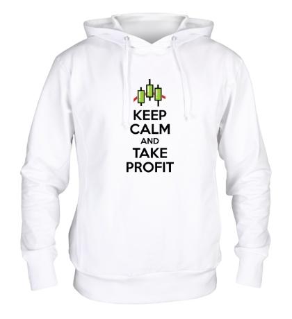 Толстовка с капюшоном Keep calm and take profit