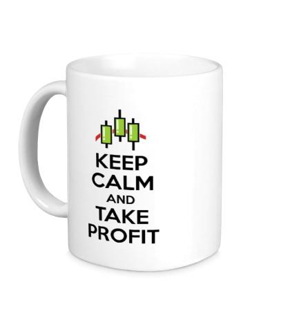 Керамическая кружка Keep calm and take profit