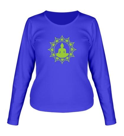 Женский лонгслив Символ медитации