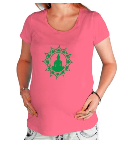 Футболка для беременной Символ медитации