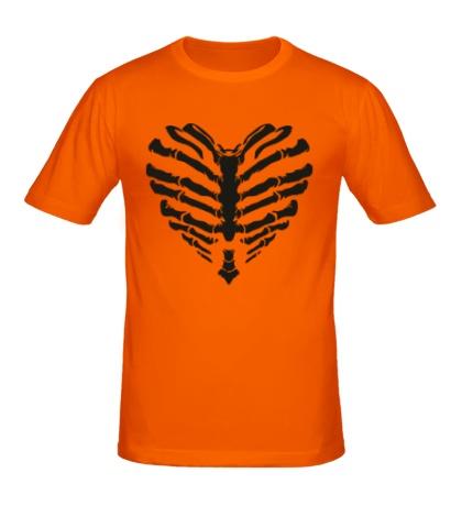 Мужская футболка Сердце скелет