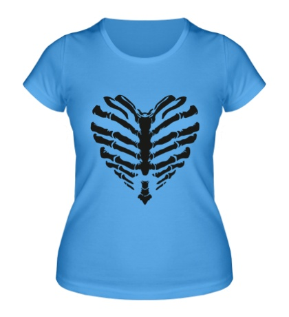 Женская футболка Сердце скелет