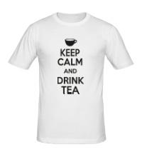 Мужская футболка Keep calm and drink tea