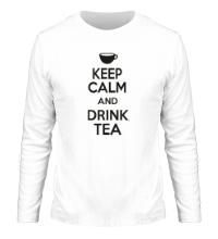 Мужской лонгслив Keep calm and drink tea