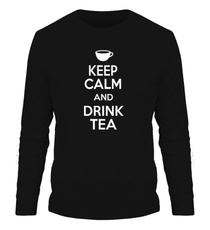Мужской лонгслив Keep calm and drink tea