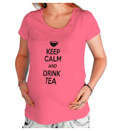 Футболка для беременной Keep calm and drink tea