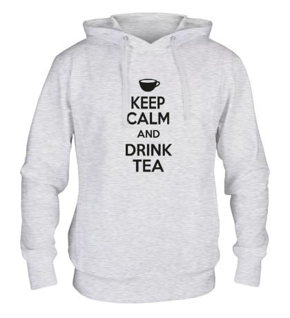 Толстовка с капюшоном Keep calm and drink tea