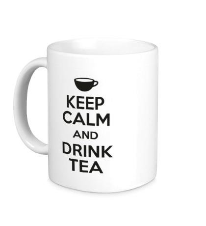 Керамическая кружка Keep calm and drink tea