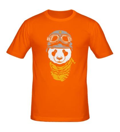 Мужская футболка Панда байкер