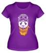 Женская футболка «Панда байкер» - Фото 1