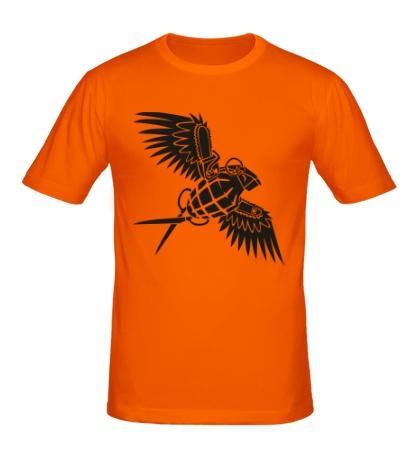 Мужская футболка Граната с крыльями