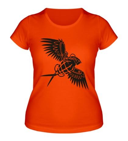 Женская футболка Граната с крыльями
