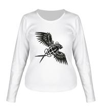 Женский лонгслив Граната с крыльями