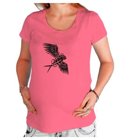 Футболка для беременной Граната с крыльями