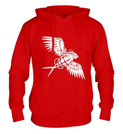 Толстовка с капюшоном Граната с крыльями