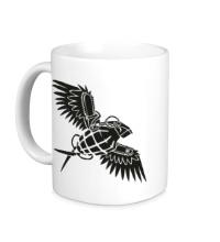 Керамическая кружка Граната с крыльями