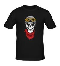 Мужская футболка Череп байкера