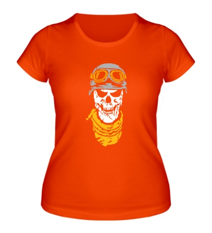 Женская футболка Череп байкера