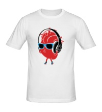 Мужская футболка Сердце в наушниках