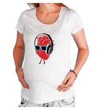 Футболка для беременной Сердце в наушниках