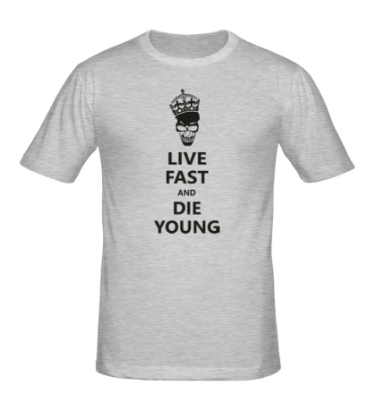 Мужская футболка Live fast die young