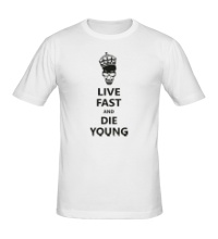 Мужская футболка Live fast die young