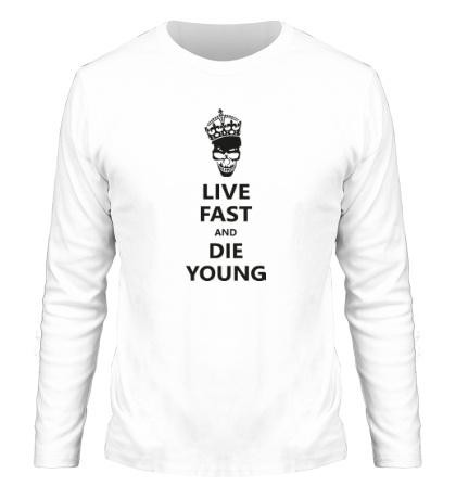 Мужской лонгслив Live fast die young